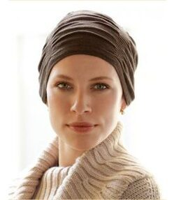 Zinnia Cotton Winter Brown Turban